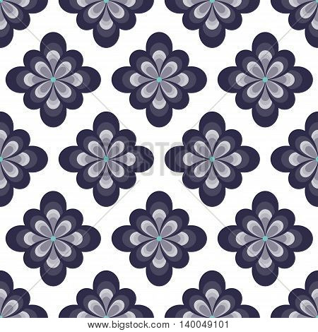 Abstract flower seamless pattern. Can be used for web print and book design home decor fashion textile wallpaper.