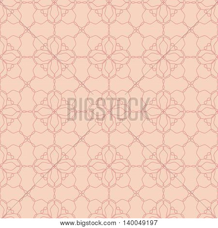 Pink net lace seamless pattern.