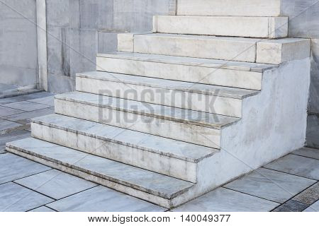 much white marble design stairs side view