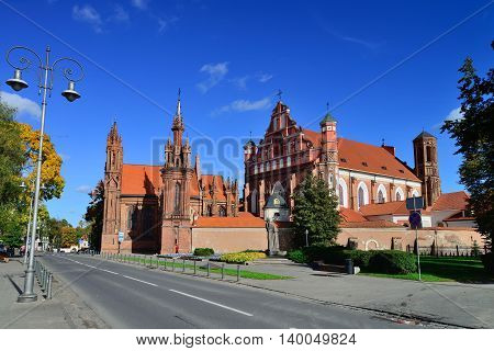 Bernardinu and St. Ana Churches in Vilnius, Lithuania.