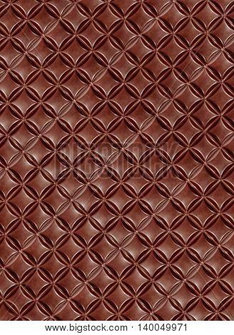 Brown Chocolate bar taken closeup suitable as food background.