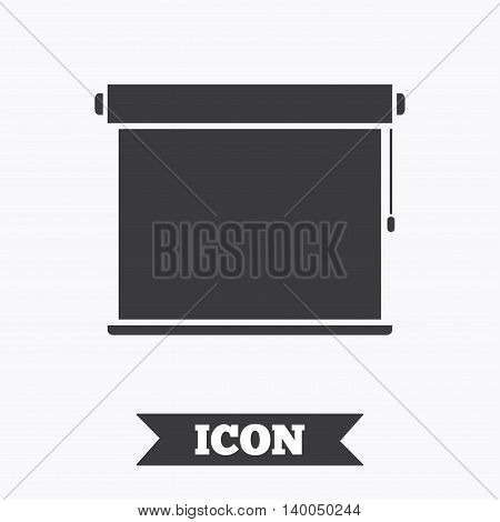 Louvers rolls sign icon. Window blinds or jalousie symbol. Graphic design element. Flat louvers rolls symbol on white background. Vector