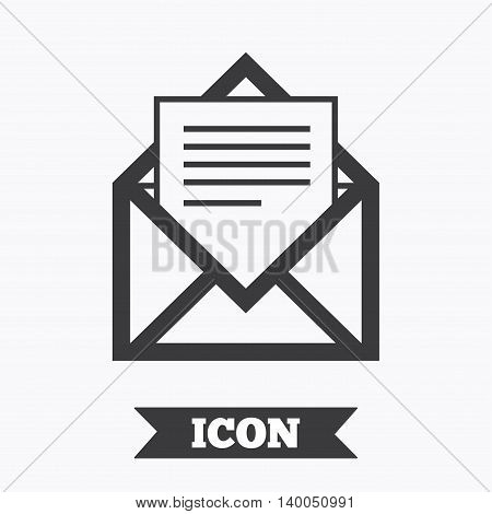 Mail icon. Envelope symbol. Message sign. Mail navigation button. Graphic design element. Flat mail symbol on white background. Vector