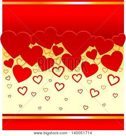 Decorative background for Valentine's Day. Vector illustration