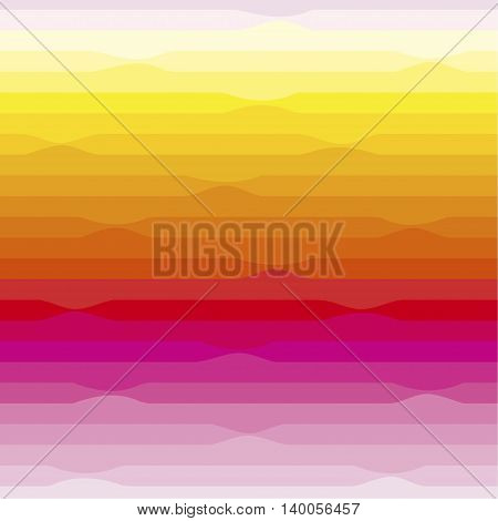 Seamless pattern. Is a horizontal segment with a smooth transition of colors ,from pink to yellow.