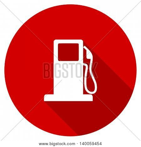 petrol red vector icon, circle flat design internet button, web and mobile app illustration