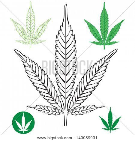 Cannabis leaf outline
