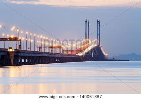 Penang Bridge view from Hammer Bay, George Town Penang, Malaysia