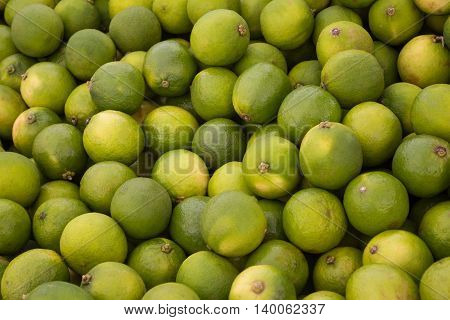 lime fruit background - pile of green lime fruits