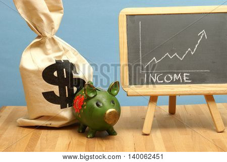 A financial theme of income being increased.