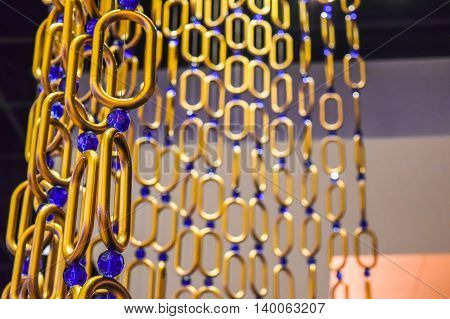 Wide Chain Curtains Gold