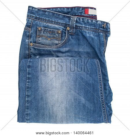 Blue jeans isolated on white background. Blue jeans isolated on white background.