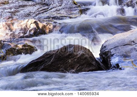 Mae Klang beauty Waterfall in Chiang Mai Province, Doi Inthanon
