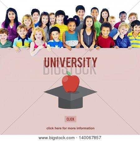 University Education Graduation Successful College Concept