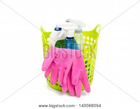 cleaning kit housekeeping on a white background