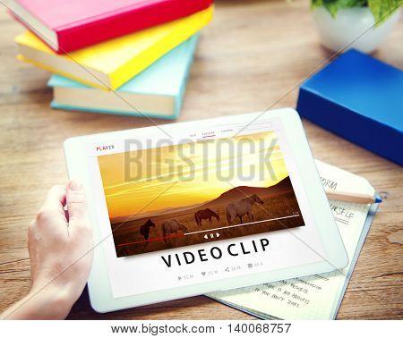 Streaming Multimedia Audio Entertainment Internet Concept