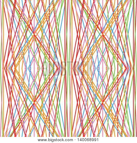 Pattern of lines. Seamless pattern with geometrical figures