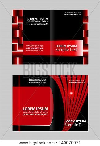 Professional business brochure design. Template for advertising brochure