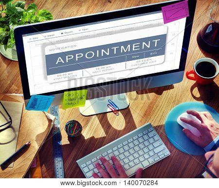 Agenda Appointment Plan Program Timetable Concept
