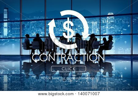 Contraction Business Cycle Economy Financial Concept