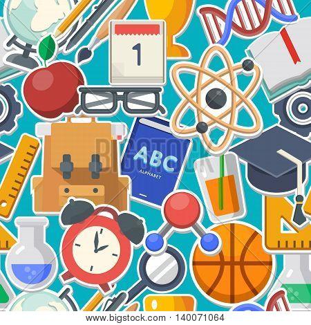 School background concept flat icon vector illustration
