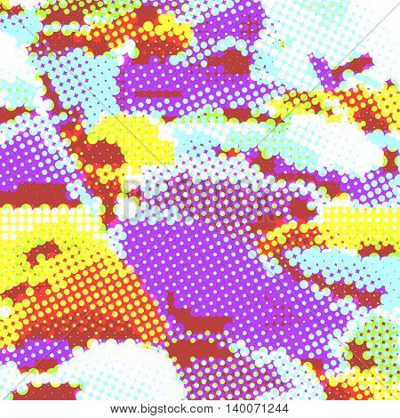 Halftone of vector multicolored illustration background EPS 10.