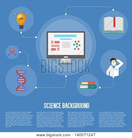 Education infographics concept icon background flat design vector illustration