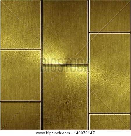 shiny gold wall. golden background and texture. 3d illustration.