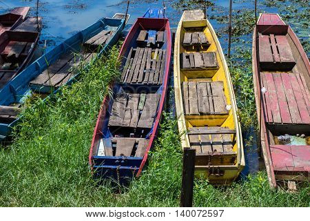 Fishing boats in Thailand outdoor, view, sky, water,