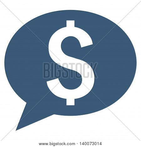 Bank Message vector icon. Style is flat symbol, blue color, white background.