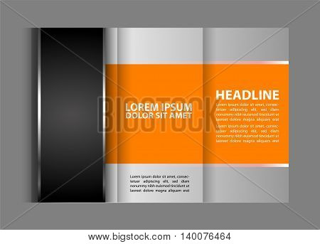 Tri-fold Brochure and Catalog Vector Design Template