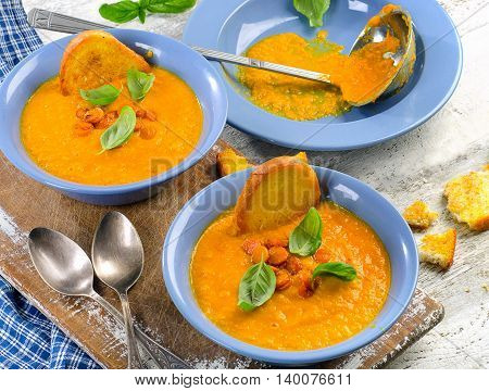 Carrot Soup With Toasts