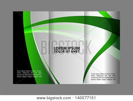 Business Theme Tri-fold Brochure Design and Catalog Vector Concept Template