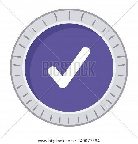 check symbol  isolated icon design, vector illustration  graphic