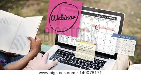 Webinar Technology Webcast Website Concept