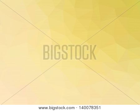 Abstract yellow gradient low polygon shaped background.