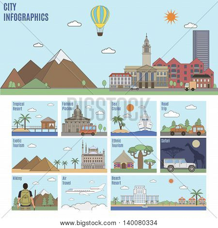 City Infographics. Tourism