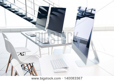 Modern computers in the office
