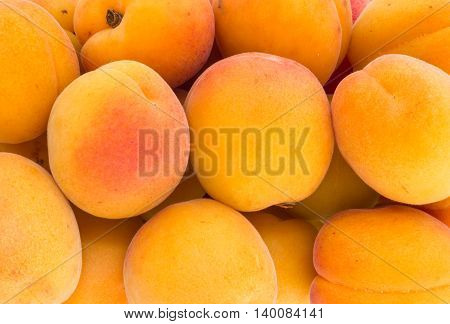 Apricots from biological farming. Top view for background.