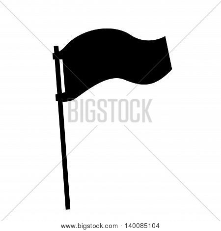 flag pole isolated icon design, vector illustration  graphic