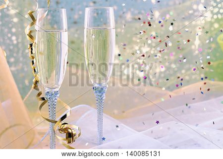 Happy New Year on a abstract background