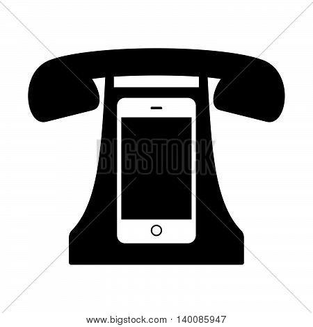 Retro telephone set ( shade picture )