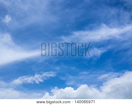 Beautiful blue sky and Cloud background in summer