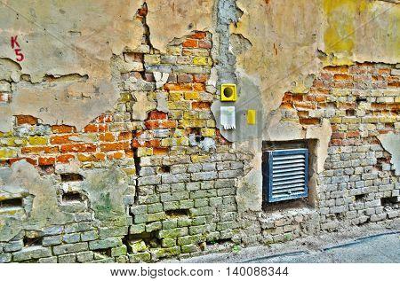 Downtown.Historical area.Urban decayJuly 26, 2016 Kiev, Ukraine