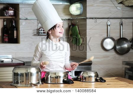 Small Girl Cooking