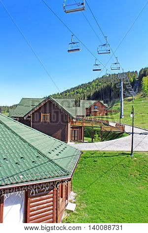 Mountain resort of Bukovel in the Ukrainian Carpathians
