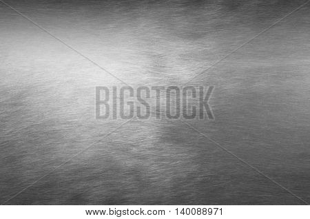 Sheet Metal Silver Solid Black Background
