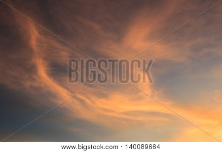 Beautiful Sunrise sky and clouds background. sky background and texture