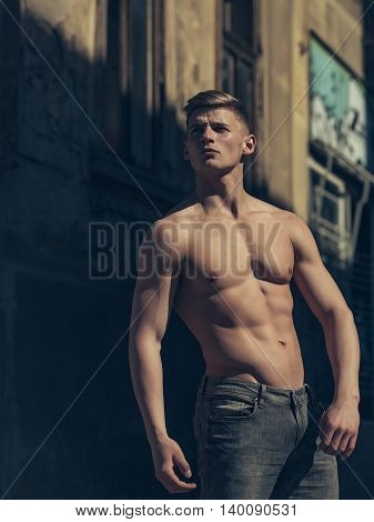 Muscular Young Man