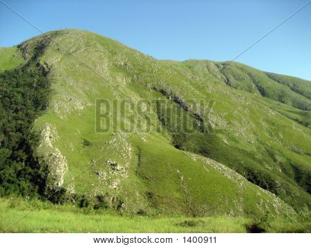 Mountain With Growth On Left